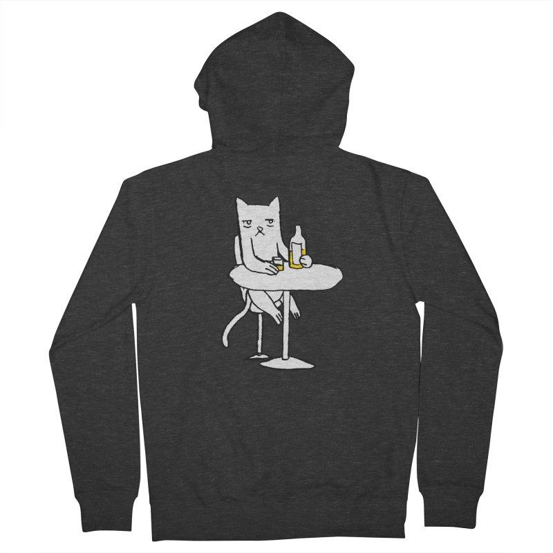 Drunk cat Women's Zip-Up Hoody by alexcortez's Artist Shop