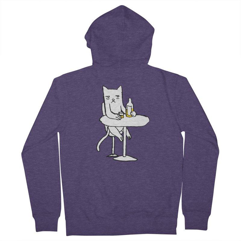 Drunk cat Men's Zip-Up Hoody by alexcortez's Artist Shop