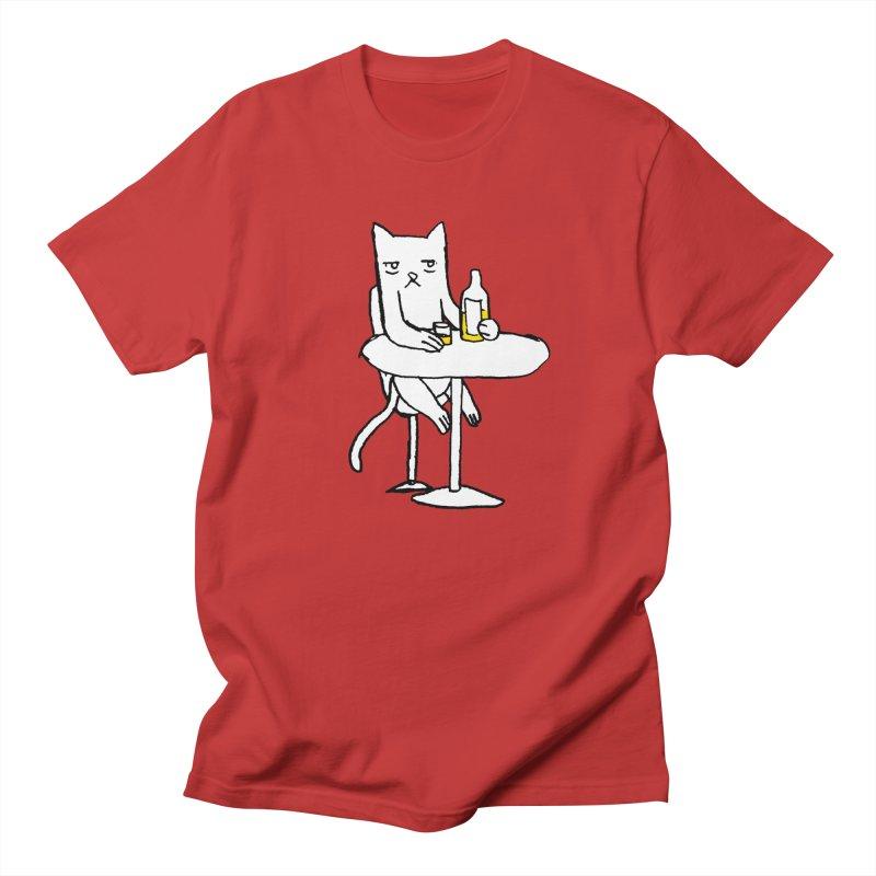 Drunk cat Men's T-Shirt by alexcortez's Artist Shop