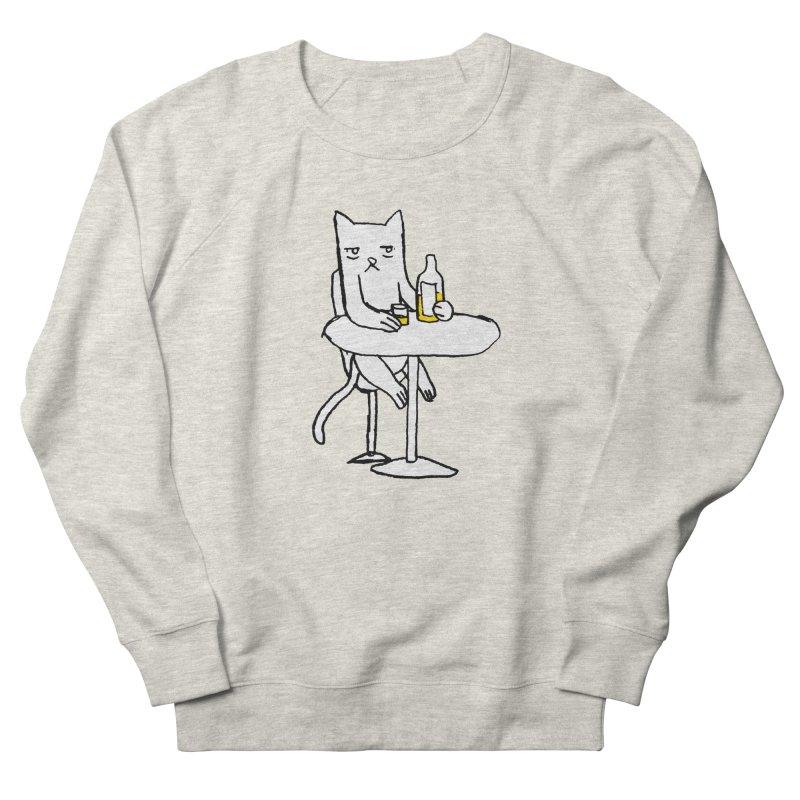 Drunk cat Men's Sweatshirt by alexcortez's Artist Shop