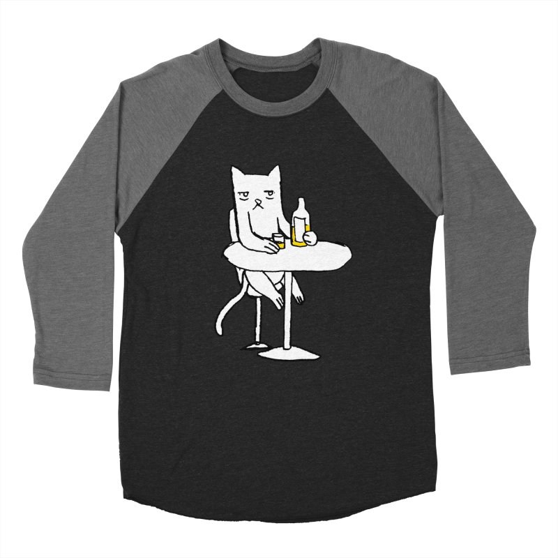 Drunk cat Men's Baseball Triblend T-Shirt by alexcortez's Artist Shop