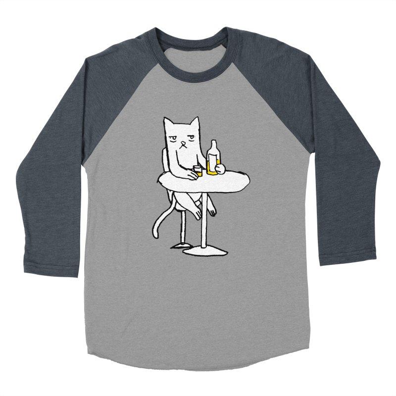 Drunk cat Men's Baseball Triblend T-Shirt by alexcortez's Artist Shop