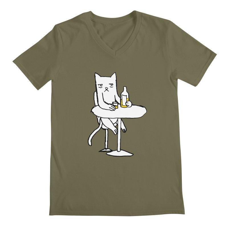 Drunk cat Men's V-Neck by alexcortez's Artist Shop