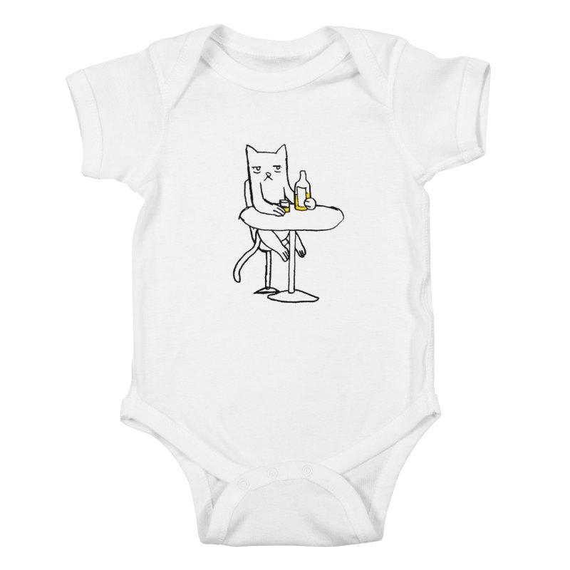 Drunk cat Kids Baby Bodysuit by alexcortez's Artist Shop