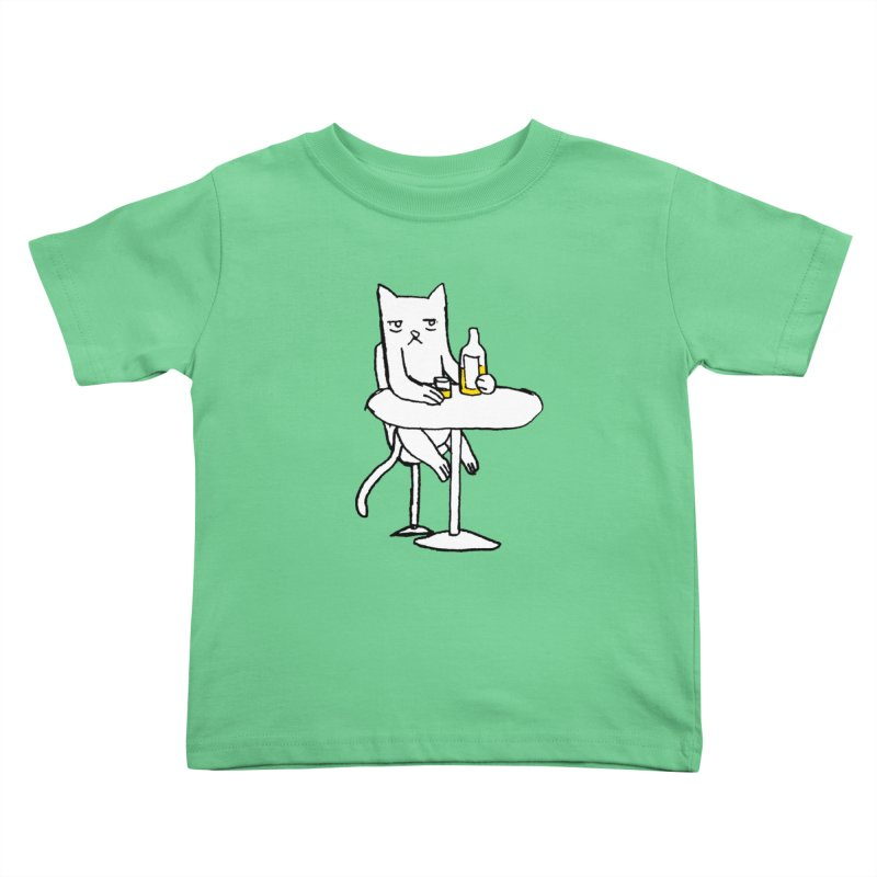 Drunk cat Kids Toddler T-Shirt by alexcortez's Artist Shop