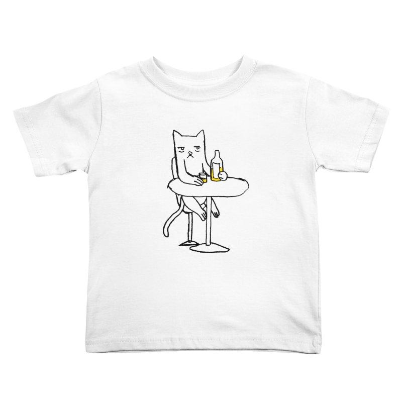 Drunk cat Kids Toddler T-Shirt by alexcortez's Artist Shop