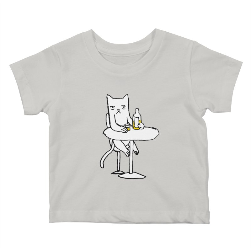 Drunk cat Kids Baby T-Shirt by alexcortez's Artist Shop