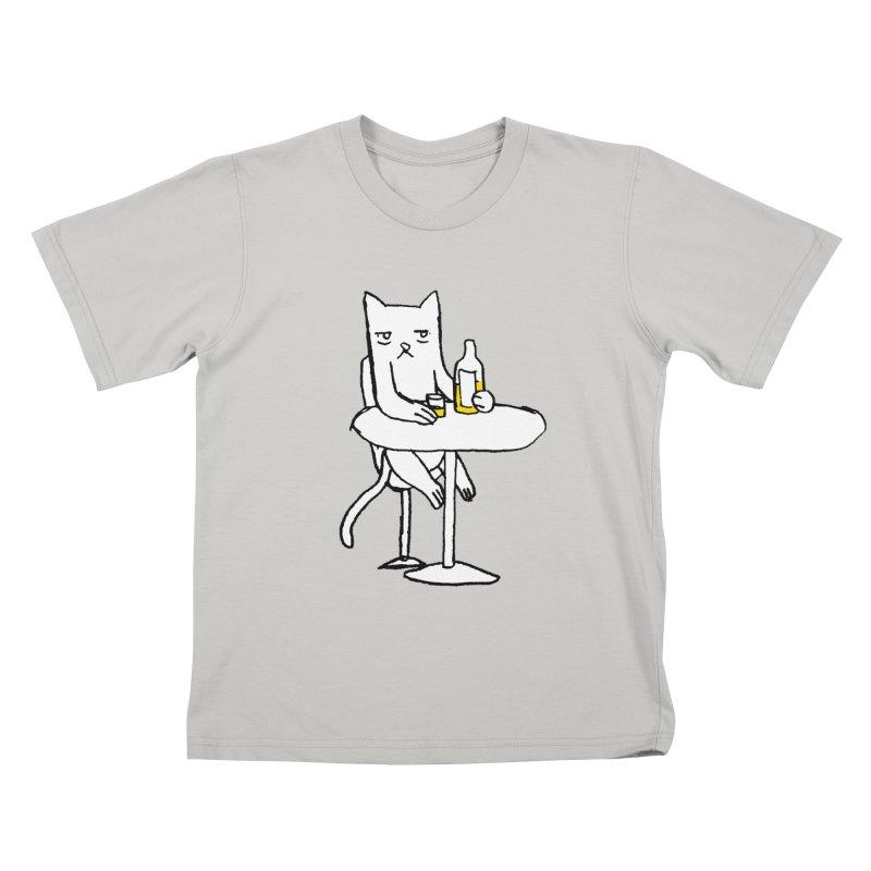 Drunk cat Kids T-shirt by alexcortez's Artist Shop