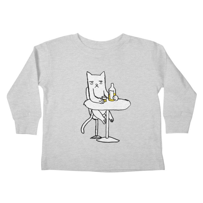 Drunk cat Kids Toddler Longsleeve T-Shirt by alexcortez's Artist Shop