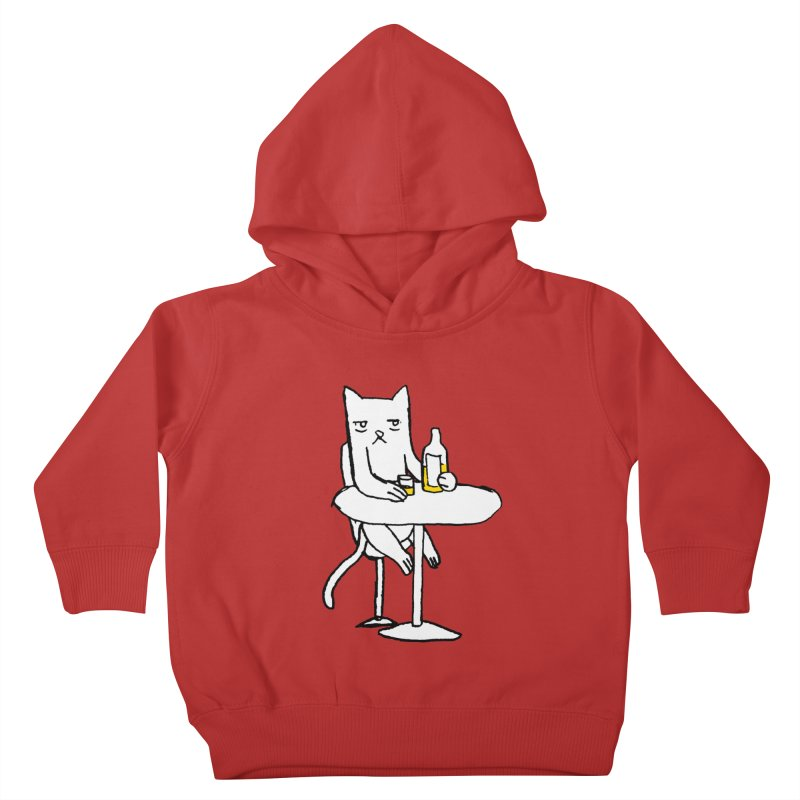 Drunk cat Kids Toddler Pullover Hoody by alexcortez's Artist Shop