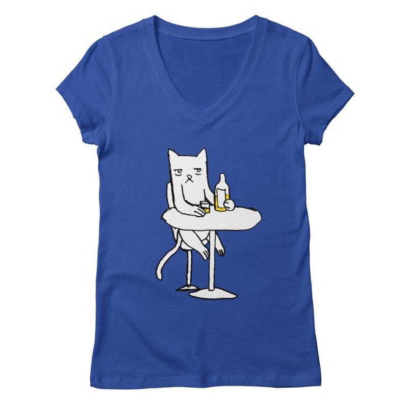Drunk cat Women's V-Neck by alexcortez's Artist Shop