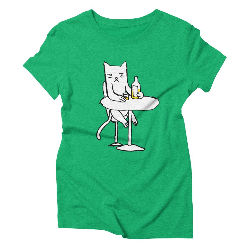 Drunk cat Women's Triblend T-Shirt by alexcortez's Artist Shop