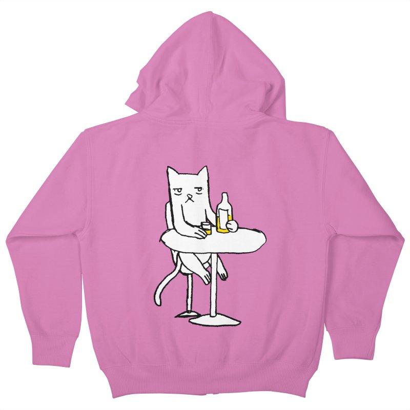 Drunk cat Kids Zip-Up Hoody by alexcortez's Artist Shop