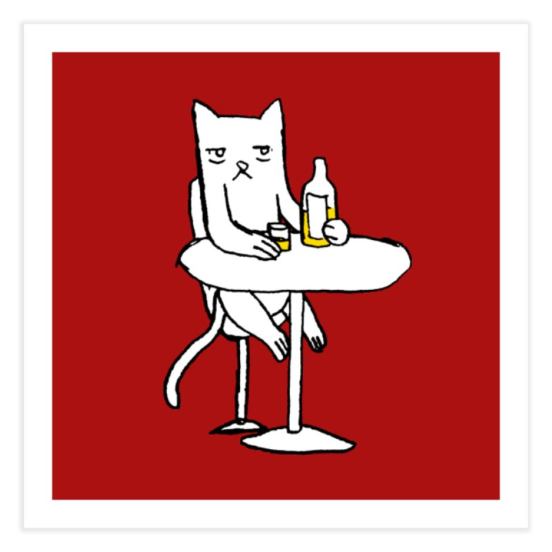 Drunk cat Home Fine Art Print by alexcortez's Artist Shop