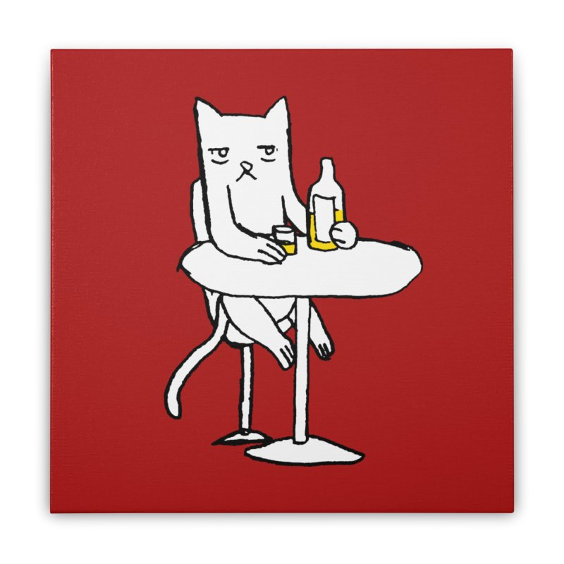Drunk cat Home Stretched Canvas by alexcortez's Artist Shop