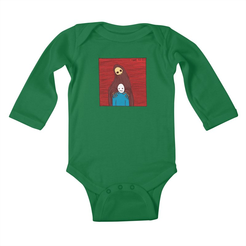 Time to go Kids Baby Longsleeve Bodysuit by alexcortez's Artist Shop