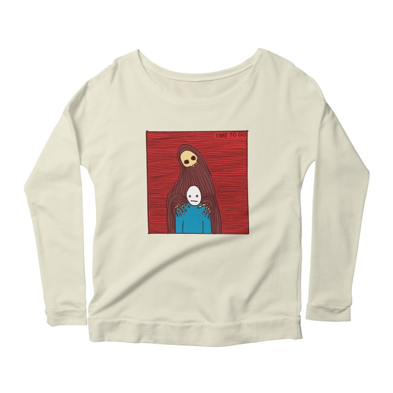 Time to go Women's Longsleeve Scoopneck  by alexcortez's Artist Shop