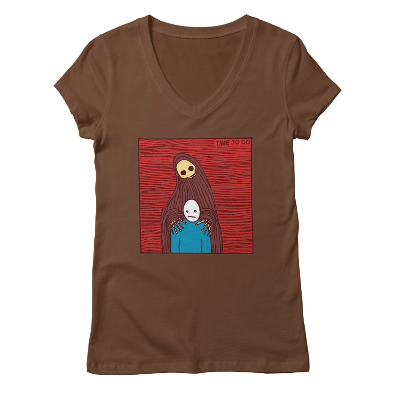 Time to go Women's V-Neck by alexcortez's Artist Shop