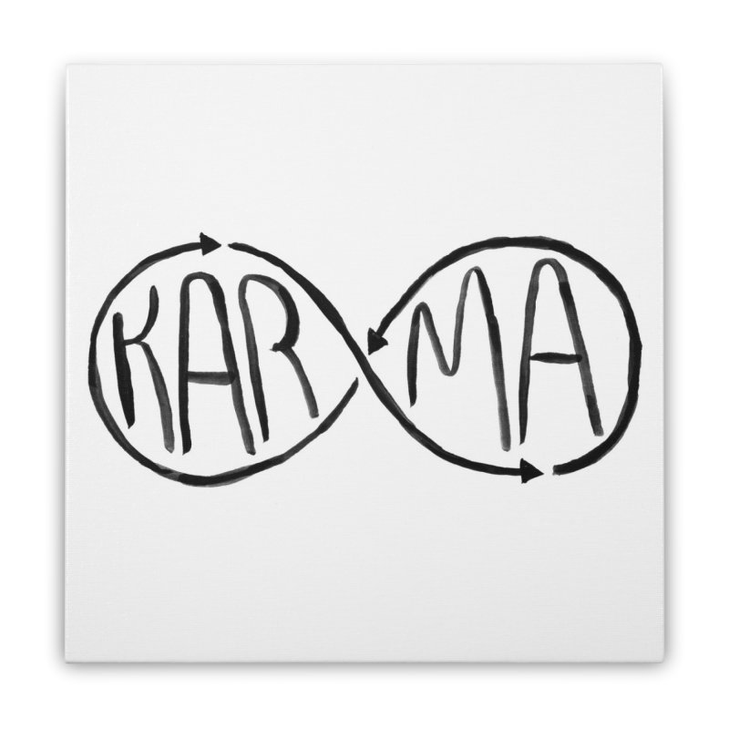 Karma Home Stretched Canvas by alexcortez's Artist Shop