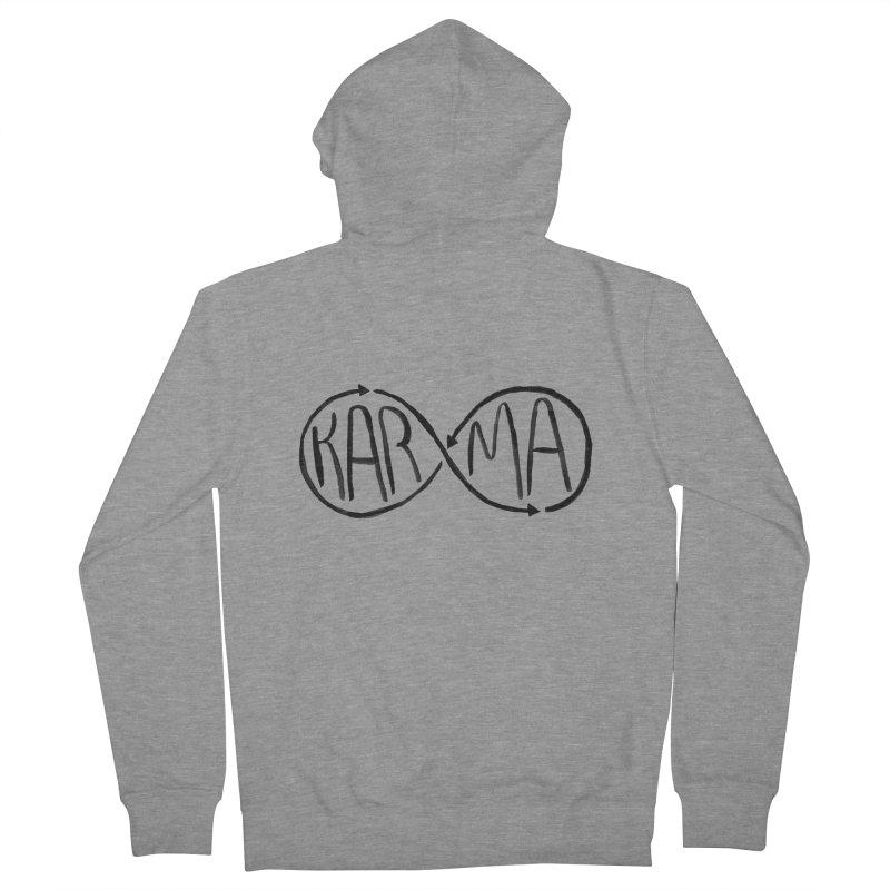 Karma Men's Zip-Up Hoody by alexcortez's Artist Shop