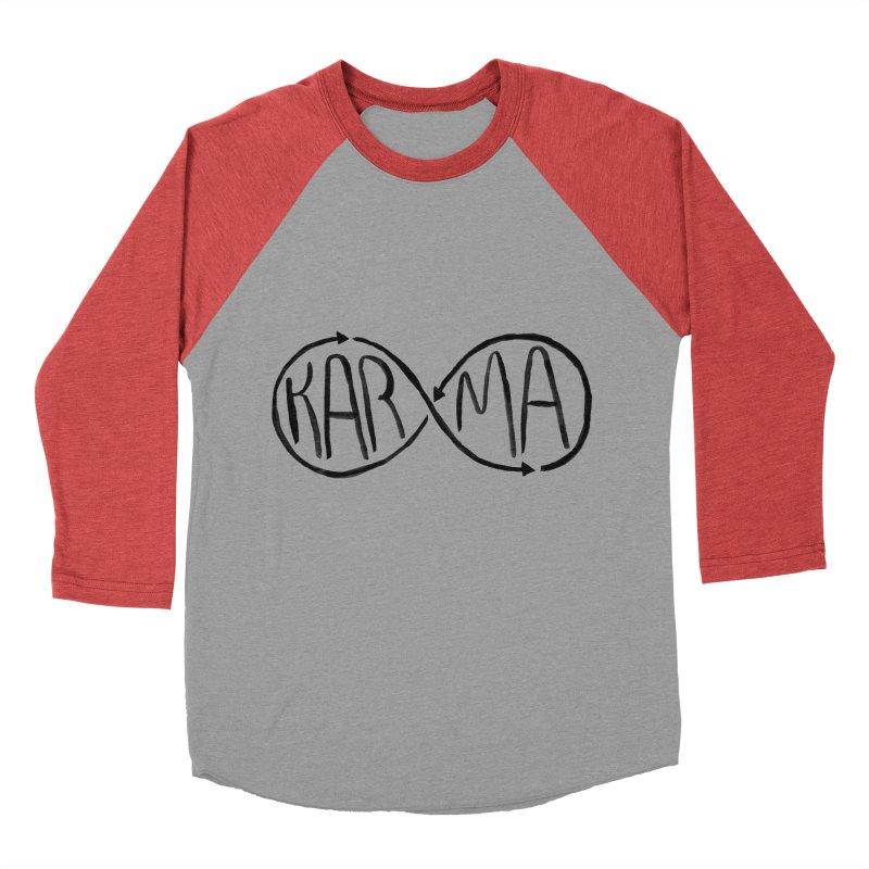 Karma Women's Baseball Triblend T-Shirt by alexcortez's Artist Shop