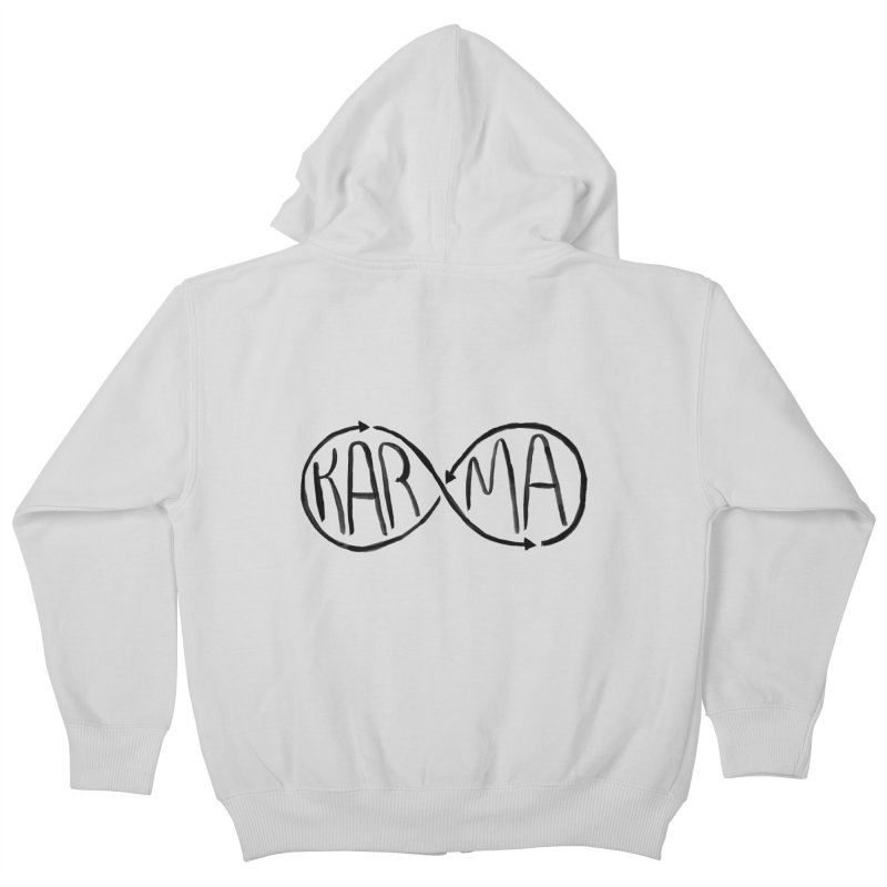 Karma Kids Zip-Up Hoody by alexcortez's Artist Shop