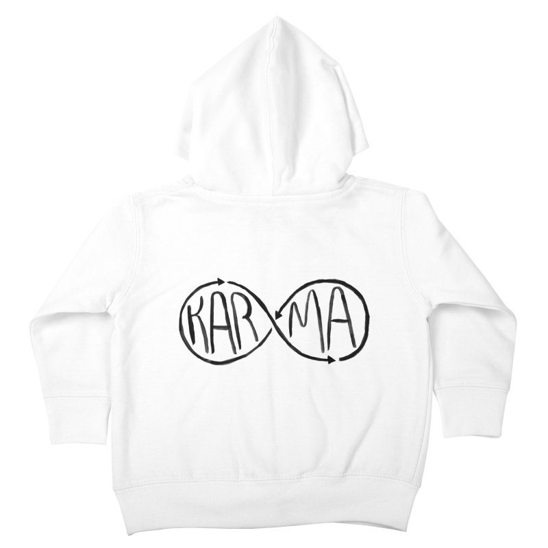 Karma Kids Toddler Zip-Up Hoody by alexcortez's Artist Shop