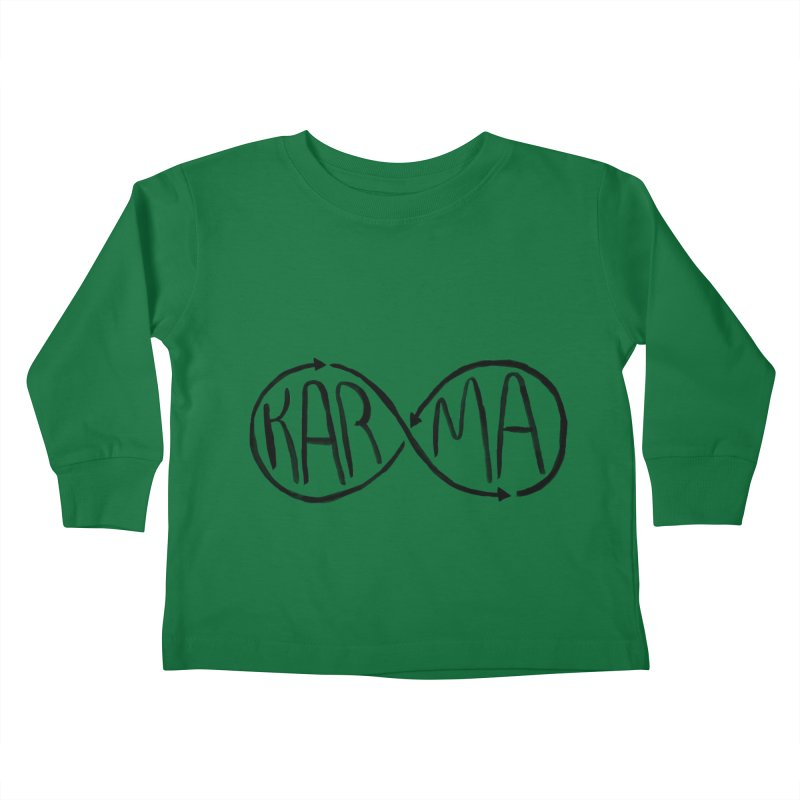 Karma Kids Toddler Longsleeve T-Shirt by alexcortez's Artist Shop