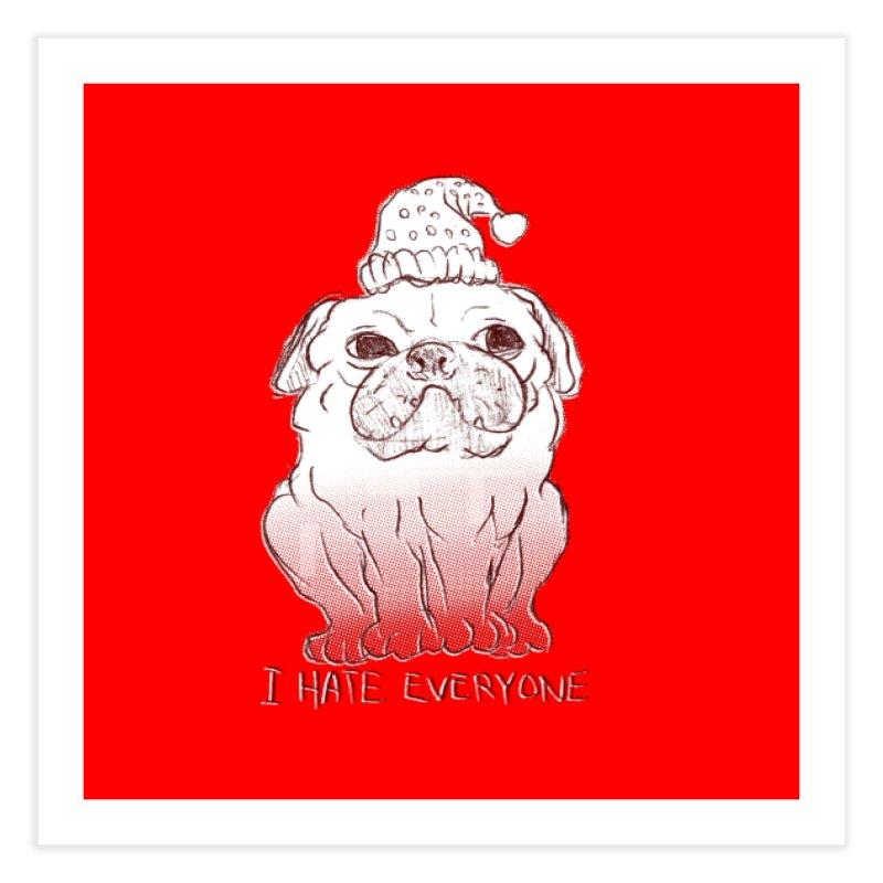 Happy Pug Home Fine Art Print by alexcortez's Artist Shop