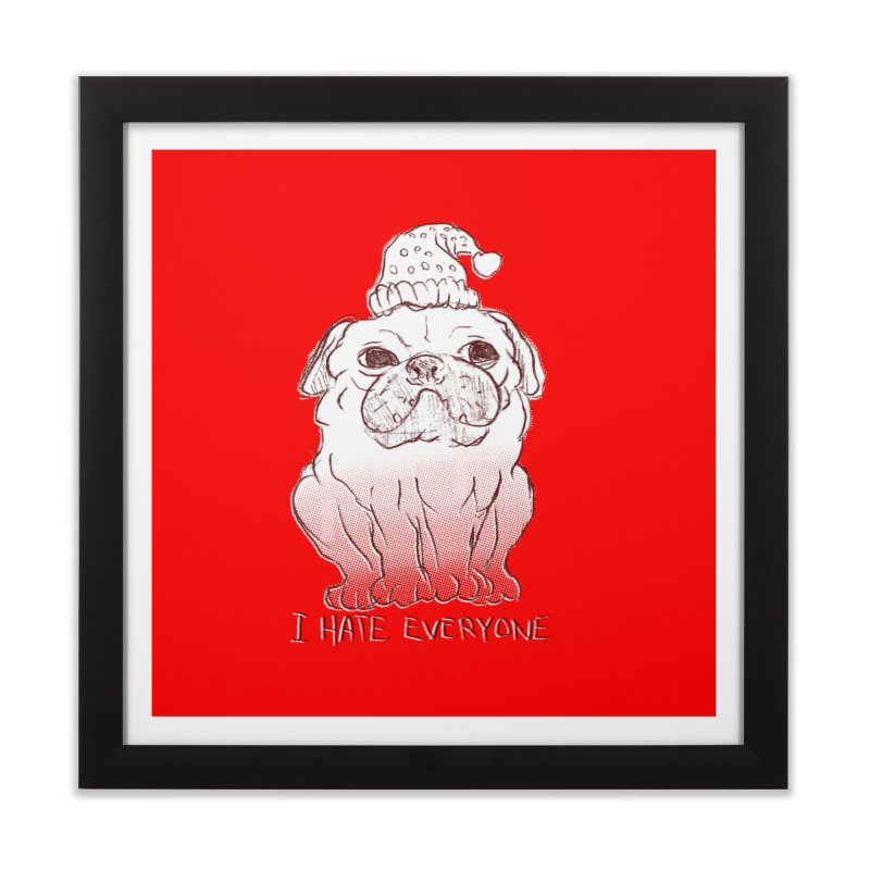 Happy Pug Home Framed Fine Art Print by alexcortez's Artist Shop