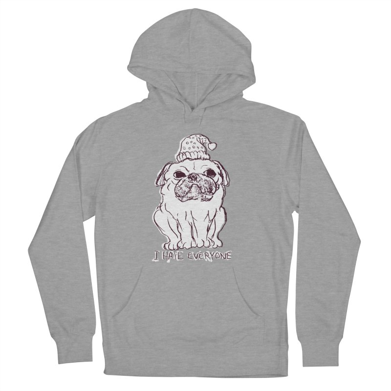 Happy Pug Women's Pullover Hoody by alexcortez's Artist Shop