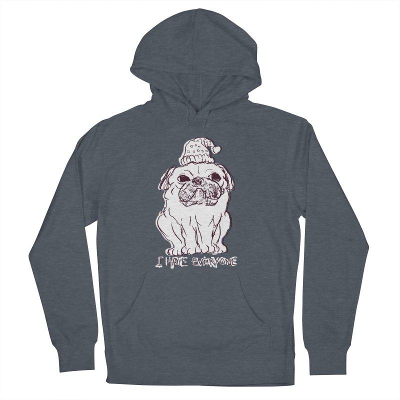 Happy Pug Men's Pullover Hoody by alexcortez's Artist Shop