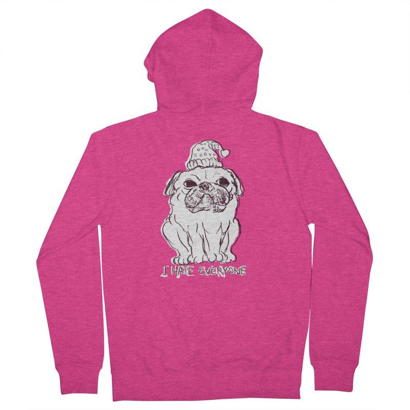 Happy Pug Women's Zip-Up Hoody by alexcortez's Artist Shop