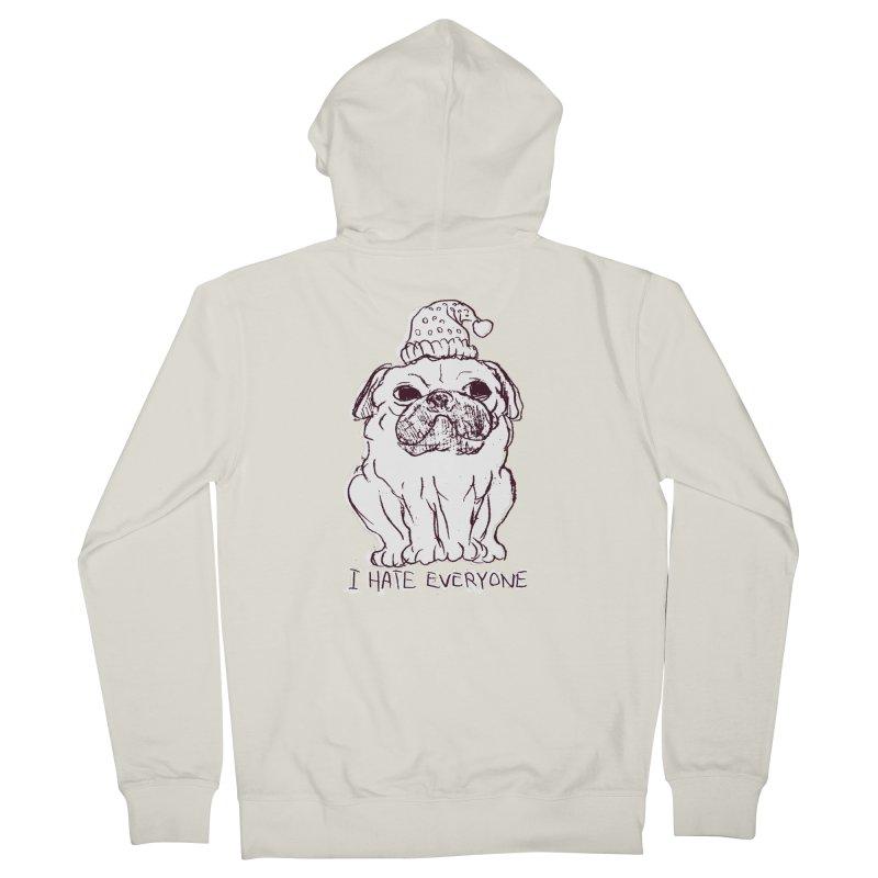 Happy Pug Men's Zip-Up Hoody by alexcortez's Artist Shop