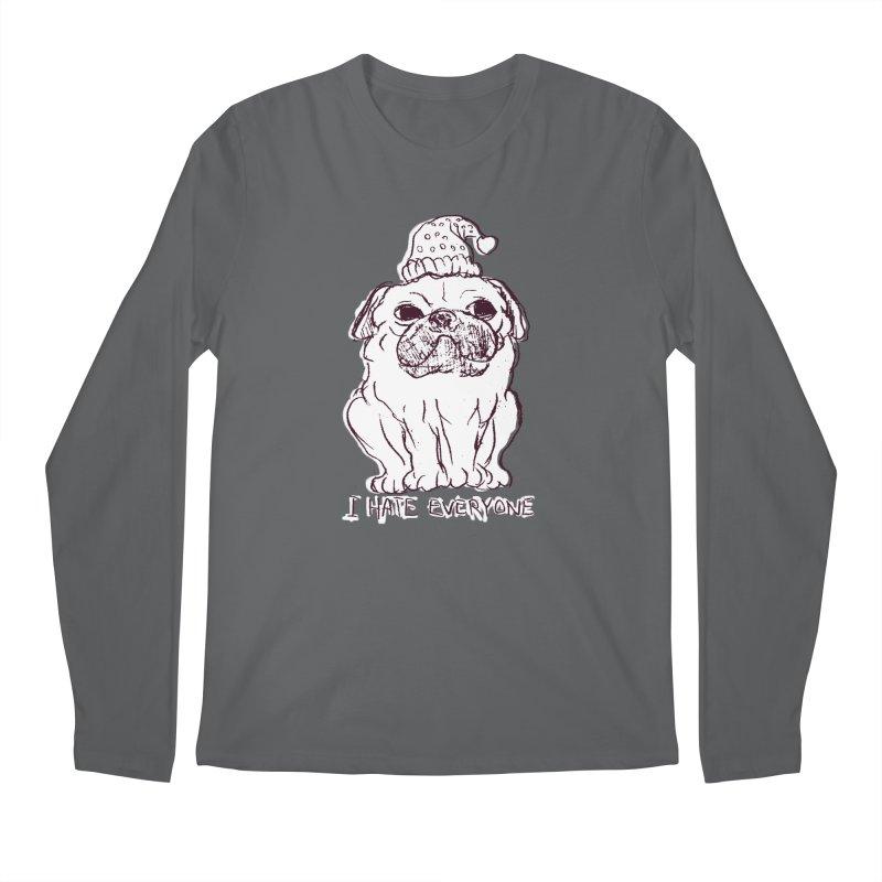 Happy Pug Men's Longsleeve T-Shirt by alexcortez's Artist Shop