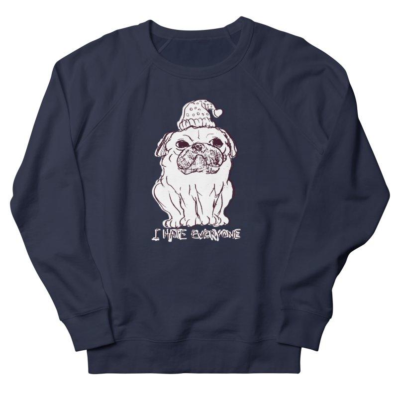 Happy Pug Men's Sweatshirt by alexcortez's Artist Shop