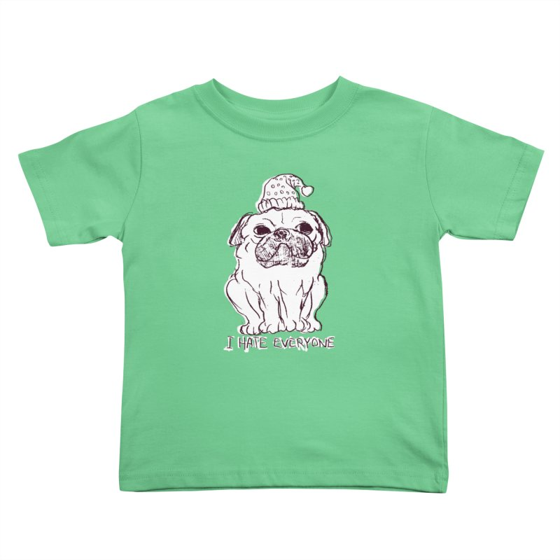 Happy Pug Kids Toddler T-Shirt by alexcortez's Artist Shop