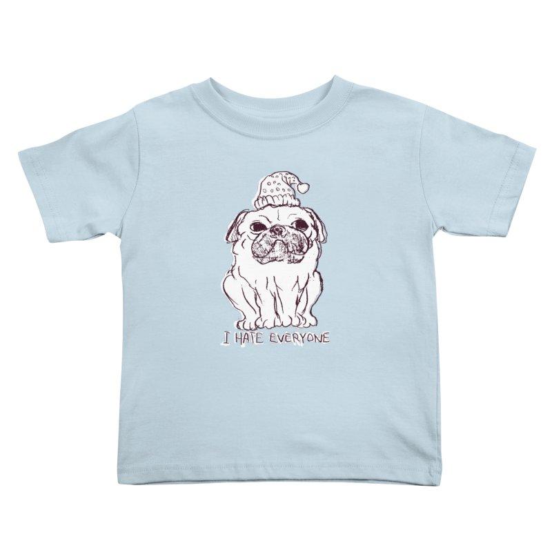 Happy Pug Kids Toddler T-Shirt by alexcortez's Artist Shop