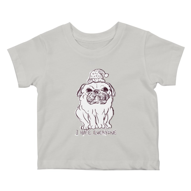 Happy Pug Kids Baby T-Shirt by alexcortez's Artist Shop