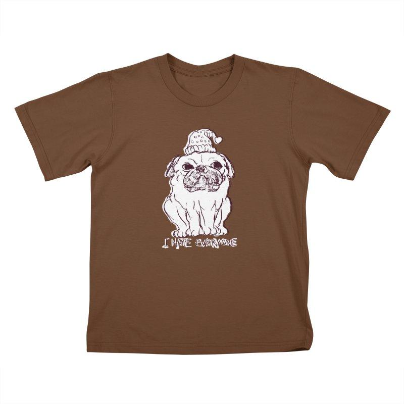 Happy Pug Kids T-Shirt by alexcortez's Artist Shop