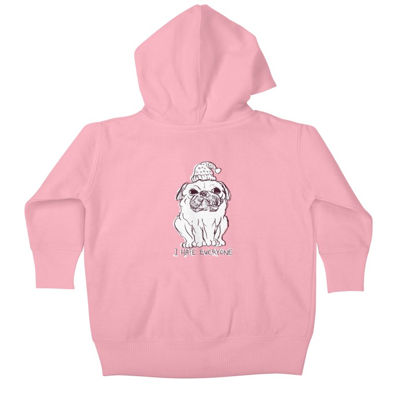 Happy Pug Kids Baby Zip-Up Hoody by alexcortez's Artist Shop