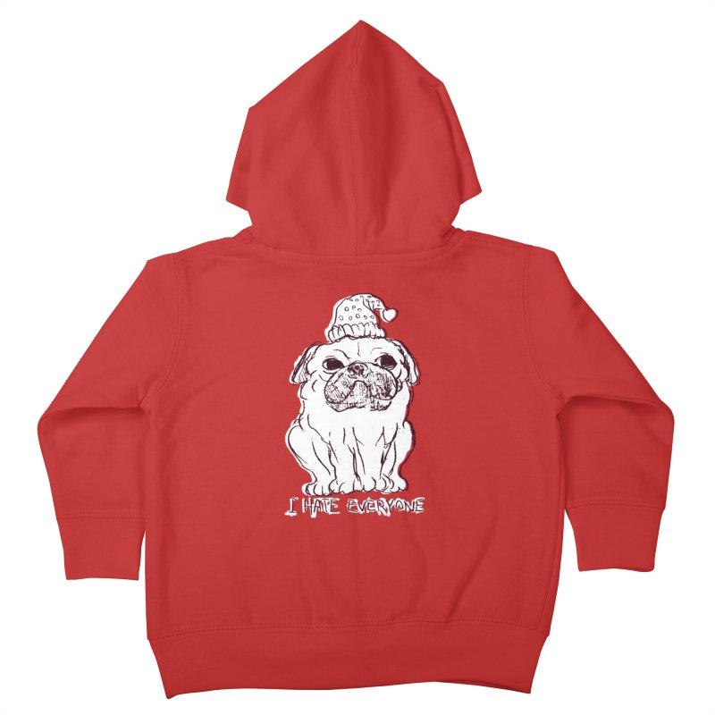 Happy Pug Kids Toddler Zip-Up Hoody by alexcortez's Artist Shop