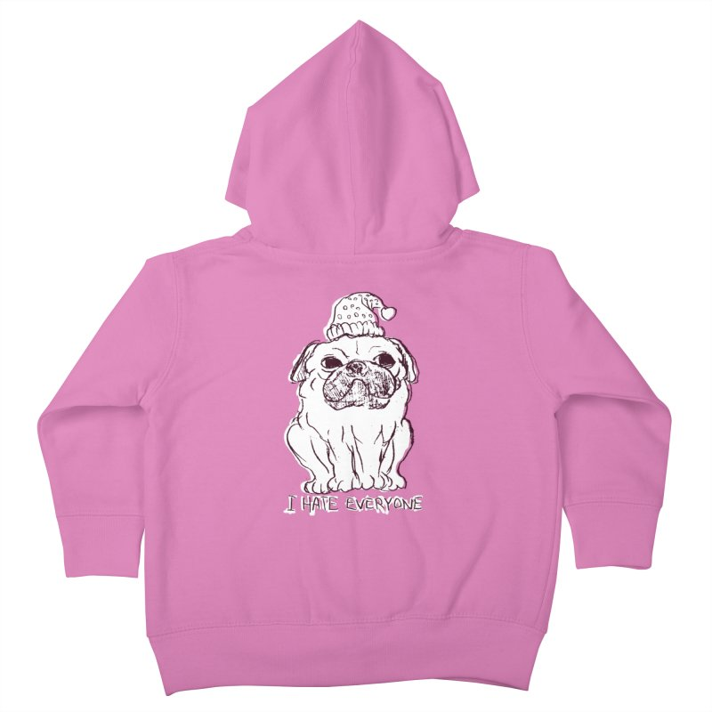 Happy Pug Kids Toddler Zip-Up Hoody by alexcortez's Artist Shop
