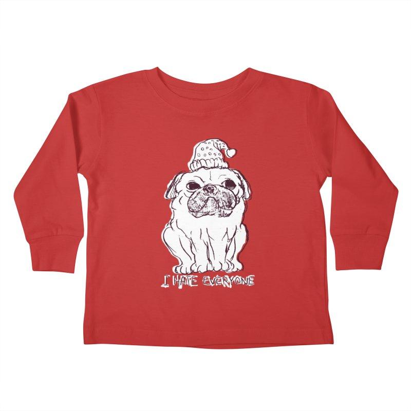 Happy Pug Kids Toddler Longsleeve T-Shirt by alexcortez's Artist Shop