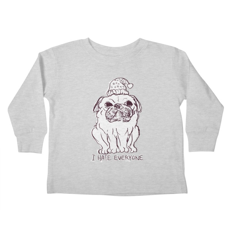 Happy Pug Kids Toddler Longsleeve T-Shirt by alexcortez's Artist Shop