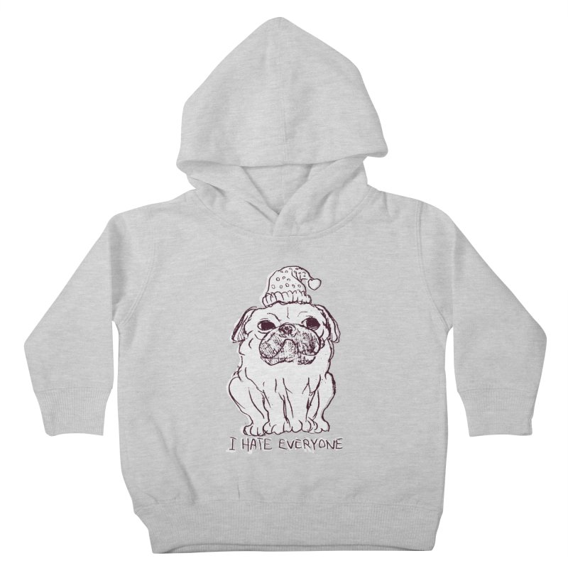 Happy Pug Kids Toddler Pullover Hoody by alexcortez's Artist Shop