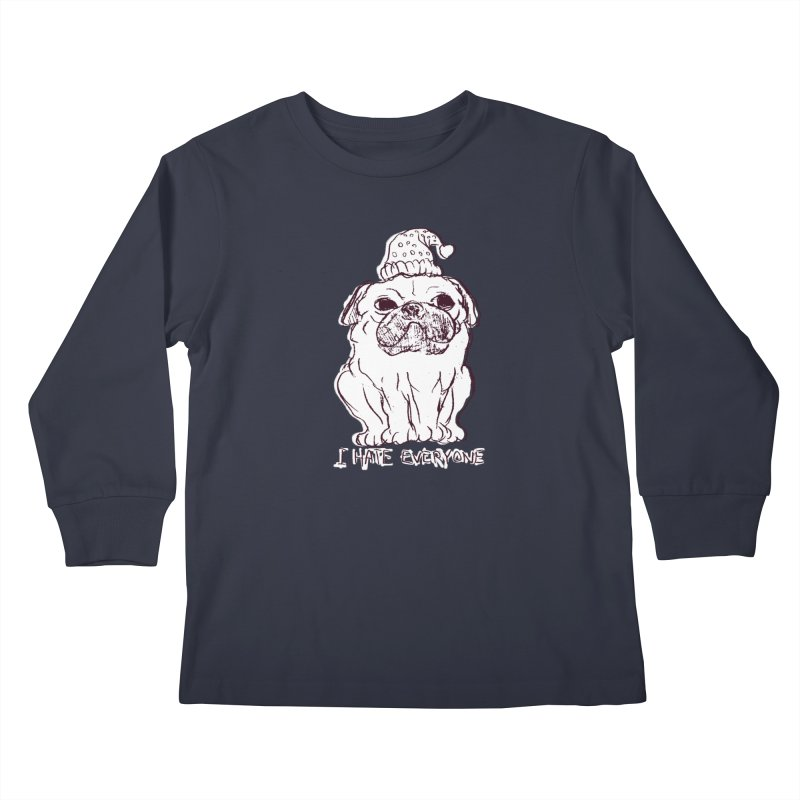 Happy Pug Kids Longsleeve T-Shirt by alexcortez's Artist Shop