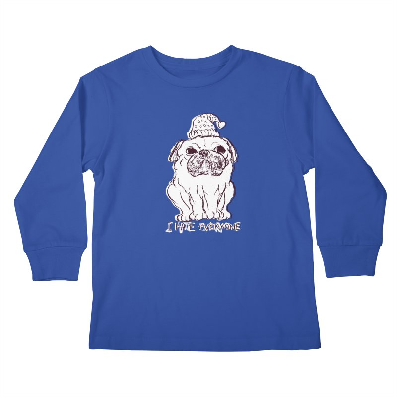Happy Pug Kids Longsleeve T-Shirt by alexcortez's Artist Shop