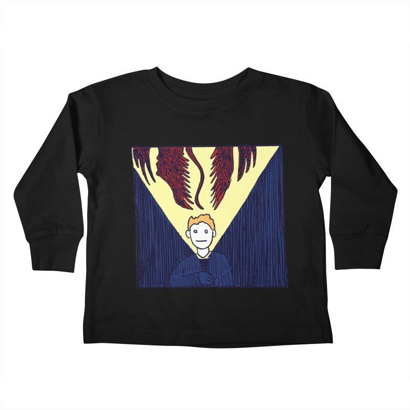 In the dark Kids Toddler Longsleeve T-Shirt by alexcortez's Artist Shop