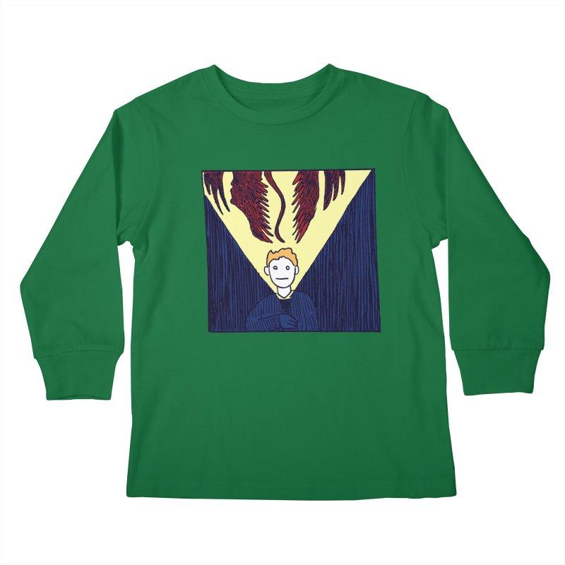 In the dark Kids Longsleeve T-Shirt by alexcortez's Artist Shop